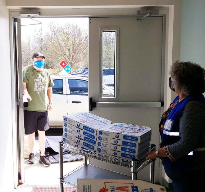 Domino's Stan Gage and team provided pizza for the recent Saturday Onslow County Vaccination Clinics held for teachers and education staff as well as frontline workers. The clinics were held in two locations to accommodate the special need. Many county and city workers participated along with special volunteers and staff to keep the vaccinations going.