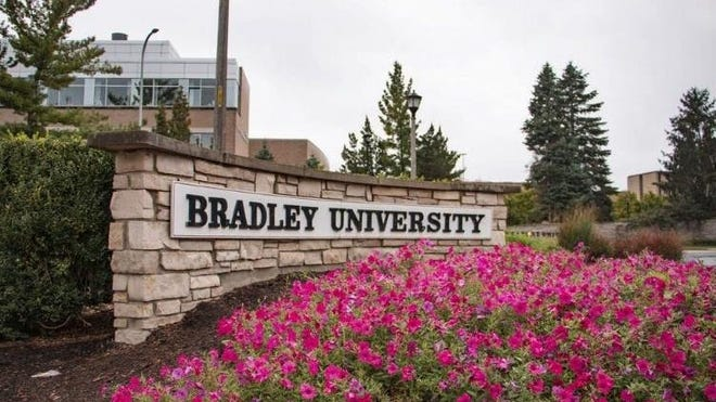 An entrance to Bradley University is shown in a file photo.