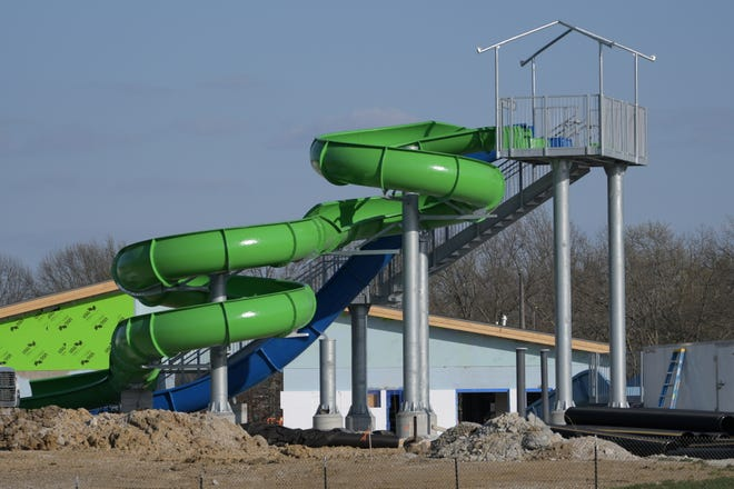 A look at how construction at the new Kirksville Aquatic Center is doing on Monday, April 5.