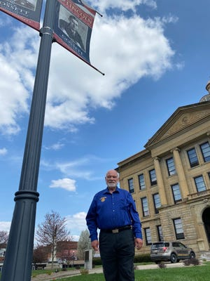 Downtown Lincoln pays tribute to Lincoln veterans through a program facilitated by the local Rotary group. Kirby Rodgers has donated countless hours to the program and is The Courier Citizen of the Month