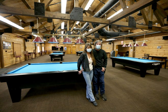 From left, Vikki and Robert O'Keefe are the owners of the House of Billiards, which took over the Poker Room at Hampton Falls.