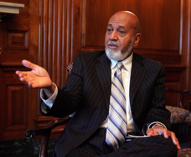 The late U.S. Rep. Alcee Hastings as he prepared to preside over an annual meeting of the Organization for Security and Cooperation in Europe's Parliamentary Assembly, in Washington.