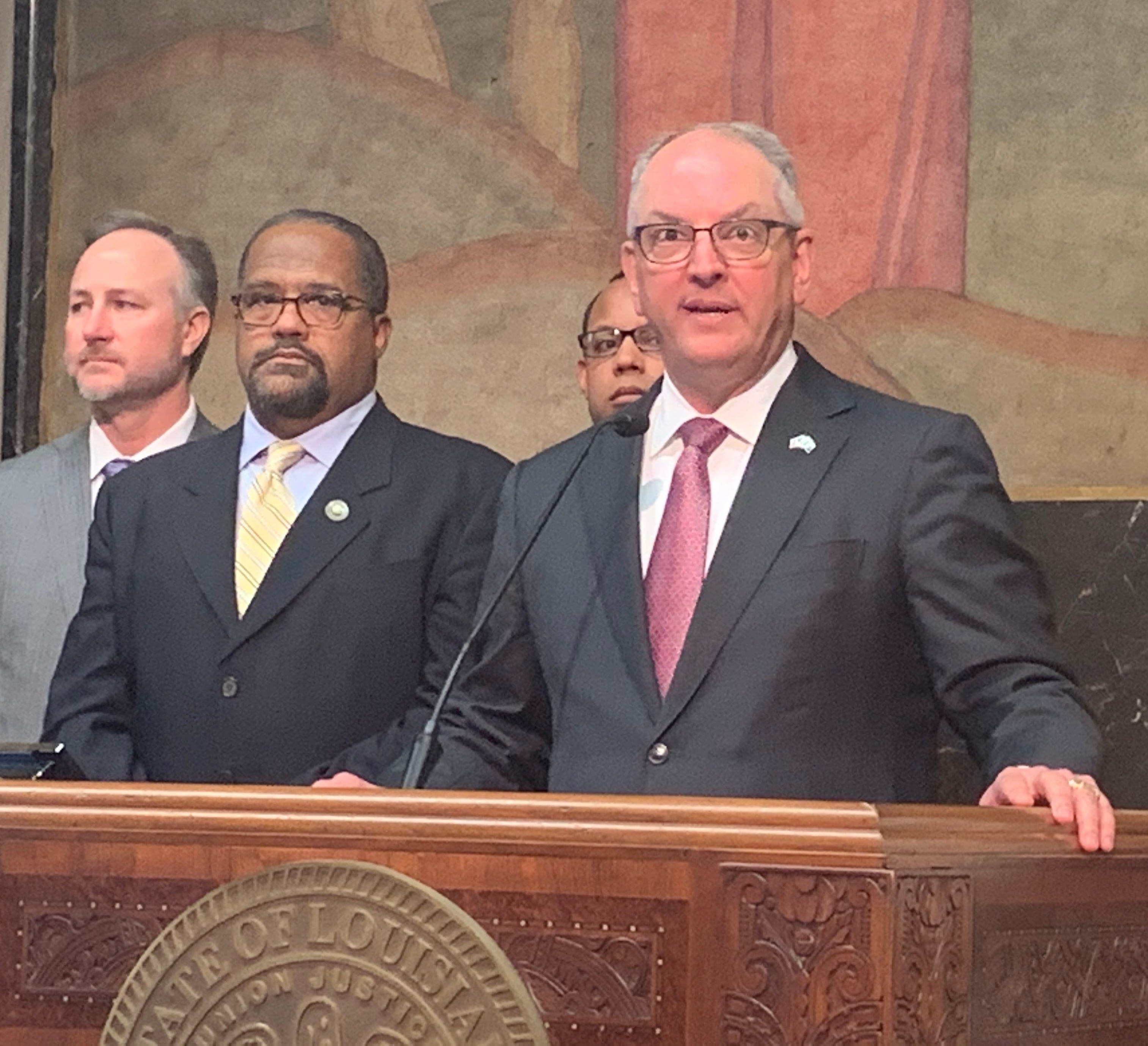 """Louisiana Gov. John Bel Edwards calledthe state's $3.2 billion from the American Rescue plan a """"once-in-a-lifetime opportunity"""" tomake long-needed improvements in his state."""