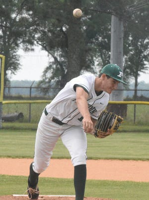 Marshall Saurage allowed only one hit and struck out 11 Saturday in Plaquemine's 8-0 win over Frederick Douglas High School of New Orleans.