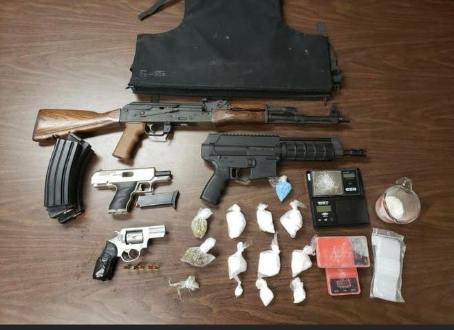 Firearms, narcotics, marijuana and Xanax were among the items Iberville Parish Sheriff's Office narcotics agents seized during a drug arrest last week in St. Gabriel.