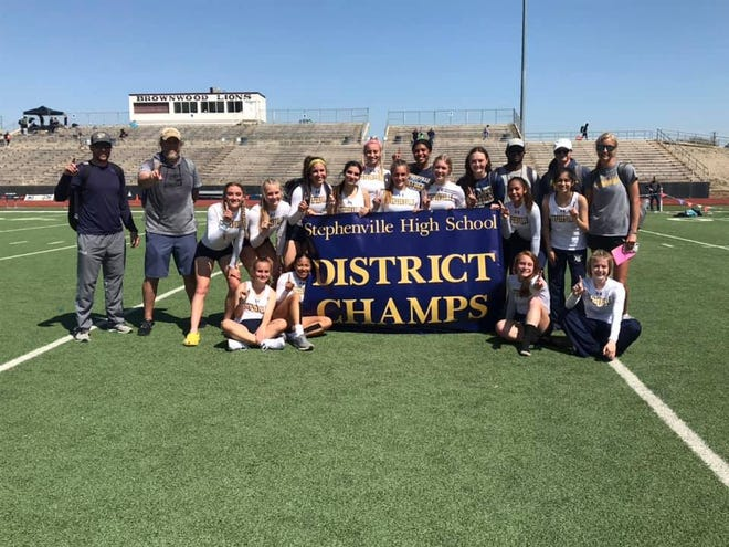The Stephenville High School Honeybees Track and Field team won the District Championship during the district track meet late last week in Brownwood. For more photos on individual winners, see page B3.