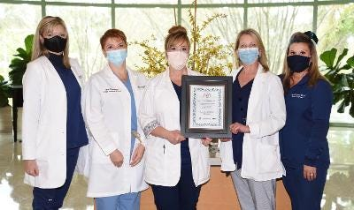 Manatee Memorial Hospital staff won a platinum level award for work in support of organ, eye and tissue donation and public health for the sixth year from The Workplace Partnership for Life Program. In 2020, MMH patients saved 30 lives through their donations.