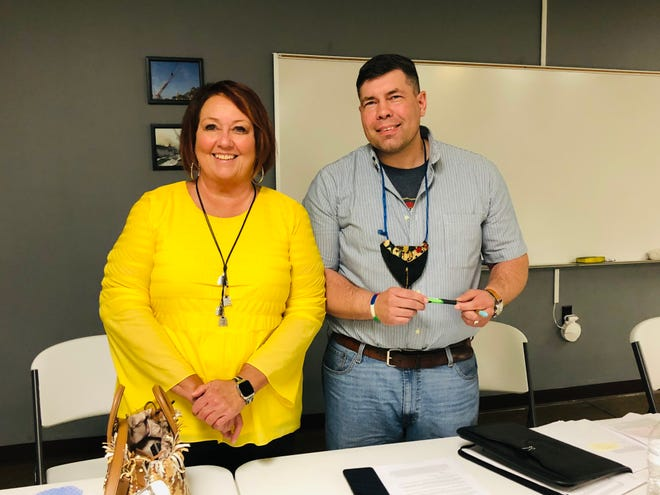 Rebecca Hubble was named the new village administrator in Bolivar after resigning as mayor and Tim Lang was sworn in as the new mayor.