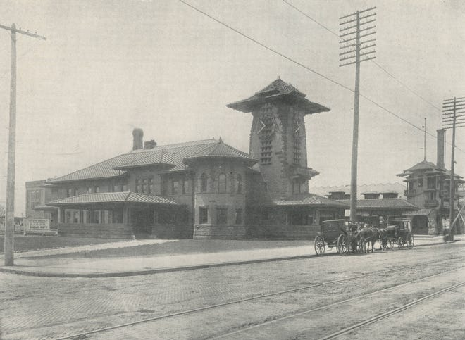 One of the most unusual buildings in Columbus opened April 18, 1896, at 379 W. Broad St., on the city's west side. The Toledo and Ohio Central Railroad Depot was designed by local architects Joseph W. Yost and Frank L. Packard and featured a pagoda-style tower, and it served as a passenger station until 1930. The Volunteers of America purchased the building the following year and used it for offices and a thrift store until 2003. The building, which has survived two fires and two floods, has served as the home of the Columbus Firefighters Union since 2007.