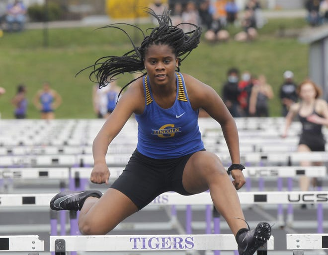Junior Lauren Stringer is one of the top hurdlers for the Gahanna girls, who expect to have a deep team again this season. After winning the Division I state title in 2018, the Lions finished third in 2019.