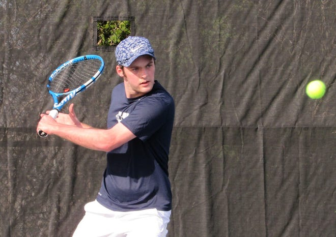The Jaguars' Evan Manley is one of three players back from the 2019 boys tennis team. The senior will play singles.