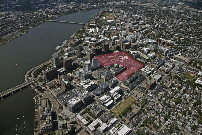 The Volpe development site is in the heart of Kendall Square.