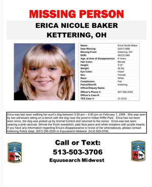 Equusearch Midwest in collaboration with the Kettering Police Department will be conducting a search for Erika Baker on Saturday, April 10.