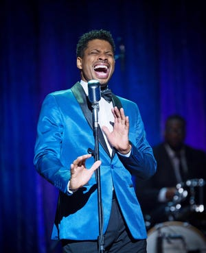 """Chester Gregory in stars in """"Higher and Higher: A Rock 'n Soul Party with Chester Gregory,"""" which runs April 30-May 2 in the Playhouse in the Park's Marx Theatre."""