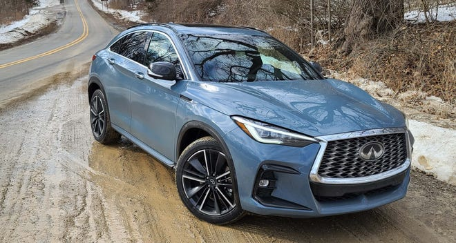 The 2022 Infiniti QX55 resurrects the brand's fast-back FX SUV that was so pleasing to looks at. Except the QX55 is a size smaller, only has 4 cylinders, and is front-drive-biased - not rear-wheel.