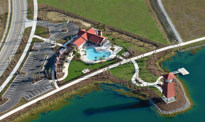 Cypress Lodge aerial view