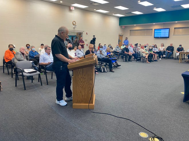 Former Milton City Councilman George Jordan speaks Monday, April 5, 2021, at a Milton City Council meeting, claiming the city has a hostile work environment.