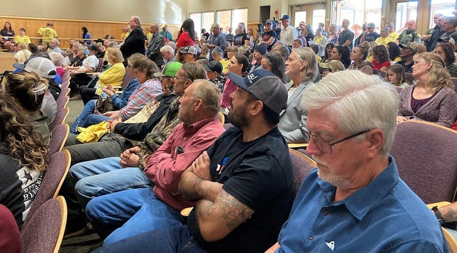 A packed house greeted the Shasta County Board of Supervisors on Tuesday, April 6, 2021, as the recall of three board members was discussed.