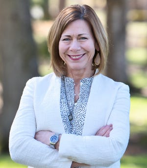 Linda Farrington poses for a portrait. Farrington is running to represent Zone 3 on the Salem-Keizer School Board in the May 18, 2021 election.