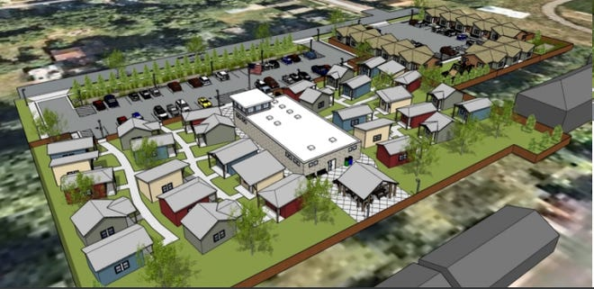 A rendering of the tiny home community planned for Sioux Falls