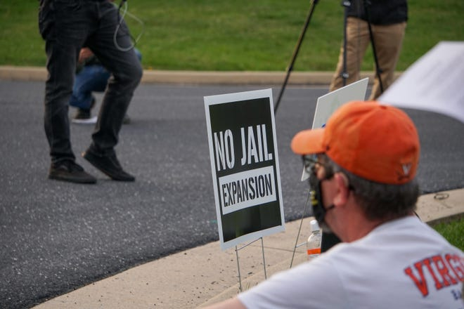One day before the Middle River Regional Jail Authority Board met and decided to delay the vote on the expansion plan, the community came out to the facility to rally against the expansion.