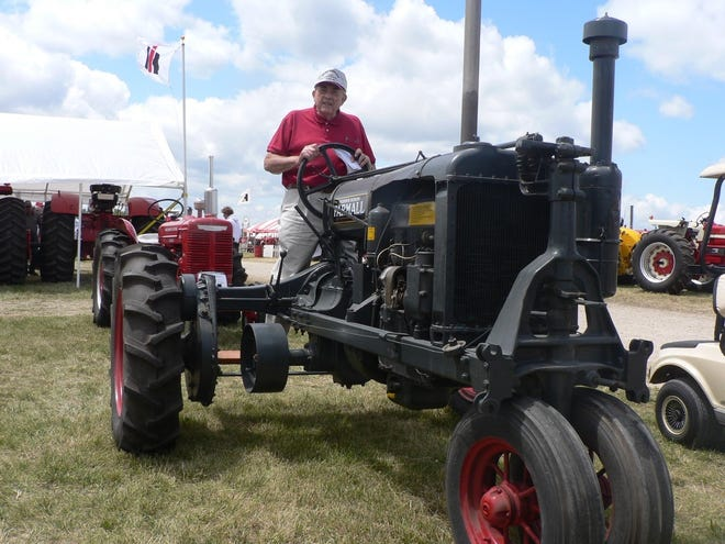 An F-20 Farmall similar to the one Oncken first used as a youth. His was painted red.