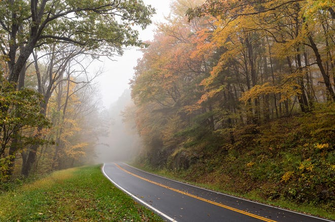 Skyline Drive runs more than 100 miles along the length of Virginia's Shenandoah National Park.