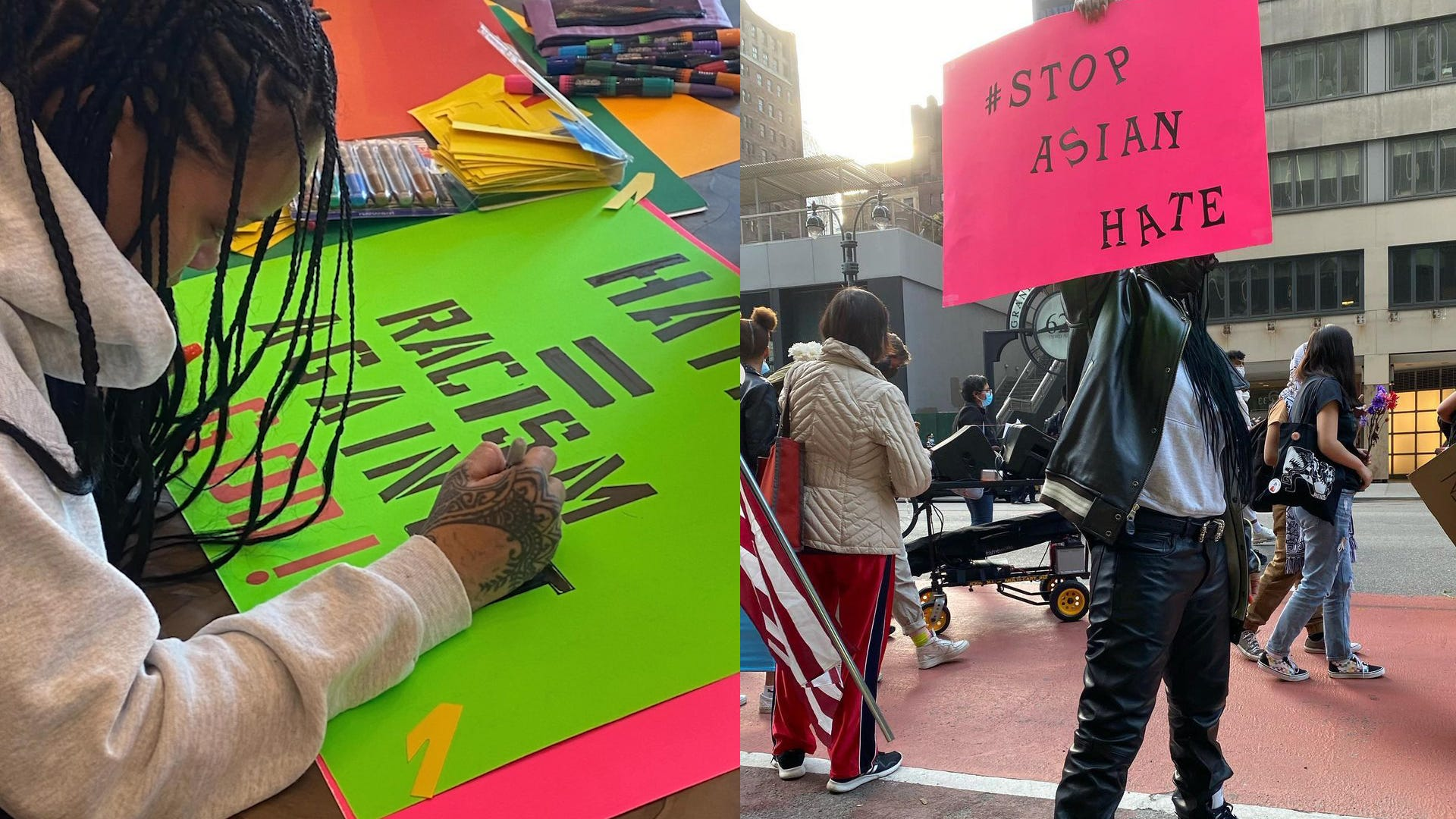Rihanna attends anti-Asian hate protest in NY; assistant says she  felt compelled to take action