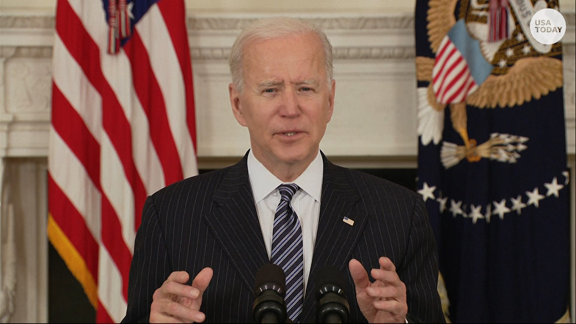 'We aren't at the finish line,' Biden says COVID is dangerous despite vaccine rollout