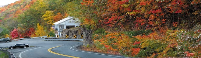 Once a Native American trade route, the Mohawk Trail offers breathtaking scenery through the Berkshire Mountains.