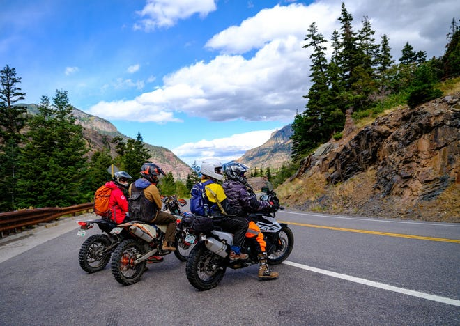 Colorado's 230-mile San Juan Mountain Skyway  loop takes riders past historic mining towns, alpine vistas, hot springs and more.