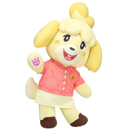 """Isabelle character in Build-A-Bear's new """"Animal Crossing: New Horizons"""" collaboration with Nintendo."""