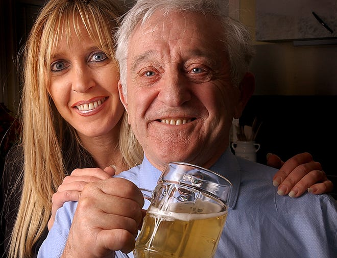 Pierre Celis and his daughter, Christine, pictured here in 2003, are well known in the Texas craft beer industry, and a new book tells their story.