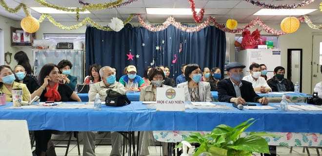 Open Eyes Beyond Border held an information session March 28 about COVID-19 vaccines for older members of Austin's Vietnamese community.