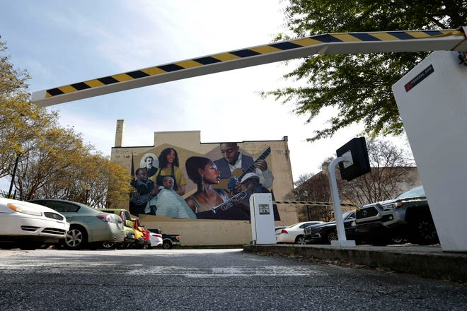 The Hot Corner Mural in downtown Athens, Ga., on Wednesday, April 7, 2021. The Athens Mayor and Commission voted Tuesday to approve a new Hot Corner Mural Park.