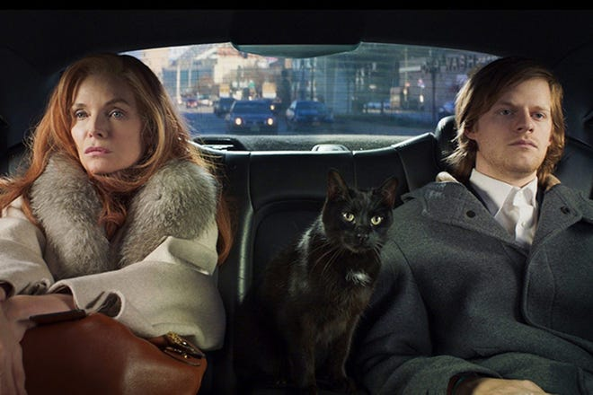 """(L-R) Michelle Pfeiffer and Lucas Hedges lead the ensemble cast of the darkly comedic """"French Exit,"""" opening Friday for private screenings at Athens Ciné."""