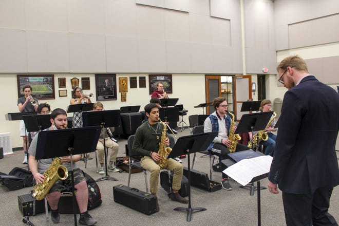One of the ensembles performing in Thursday's outdoor jazz concert at West Texas A&M University.