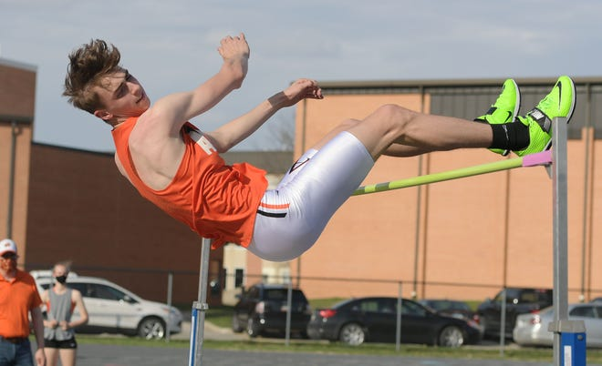 Ames senior Tate Zalasky is ranked fifth among all boys' high jumpers in the state heading into the Drake Relays Thursday in Des Moines. Zalasky's best jump so far this season is six feet, six inches.