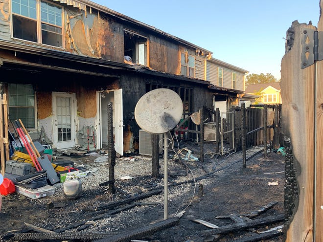 Several homes on Aberdeen Circle in the Canterbury Farms neighborhood in Grovetown were severely damaged by a fire April 6.