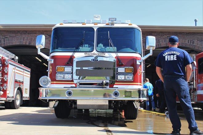 The Bartlesville Fire Department responded to 394 emergency medical rescue calls in 2020, down from 552 in 2019.