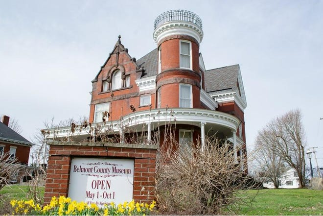"""Poet Richard Ratliff said, """"Daffodils are yellow trumpets of spring."""" Daffodils brighten up the front of the Belmont County Museum in Barnesville. The museum is open to the public from May to October, but visitors can schedule an appointment anytime throughout the year."""