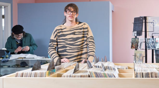 Ian Graham photographed at the Needle Exchange Records & Tapes