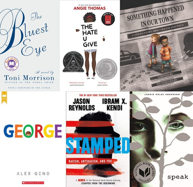 Selections from the most challenged book list of 2020