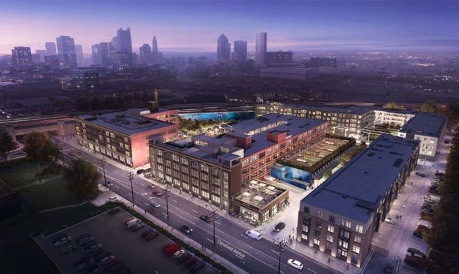 Developers plan to develop the former Kroger bakery property on Cleveland Avenue into a mixed-use complex that would include 448 apartments.