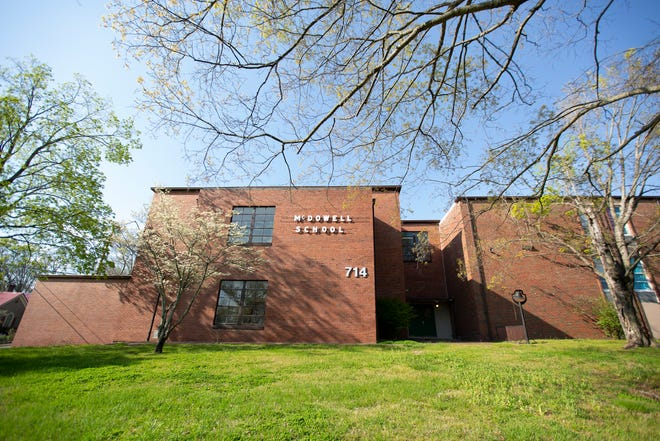 McDowell Elementary School is the oldest operating campus at Maury County Public Schools. The campus, located in Columbia, Tenn., is quiet with students out for spring break on Tuesday, April 6, 2021.