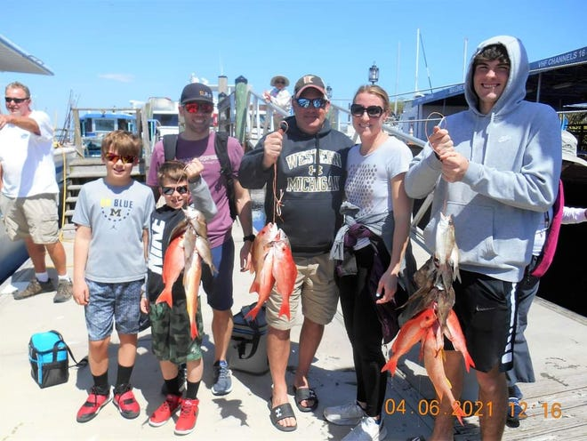 """Capt. Michael Mulholland said earlier this month that the vermilion snapper, mango snapper and mutton snapper bite has been """"extremely hot"""" on his Sea Spirit Fishing (seaspiritfishing.com) party boat."""