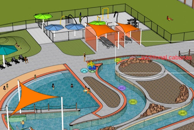 The Garden City Commission approved the addition of four semi-private cabanas to be added to the Garden Rapids at The Big Pool project Monday.
