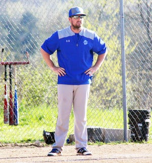 Current Osage baseball assistant Derek Carnahan during his time as a head coach at Climax Springs in 2018.