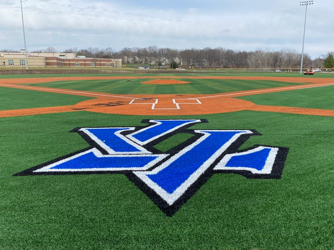 Shown is the Leavenworth High School baseball field at the recently constructed sports complex