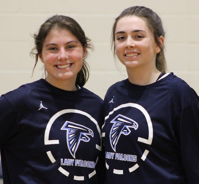 On Senior Night in Short Gap, the Lady Falcons honored seniors Michelle Phillips and Izzy Layton.
